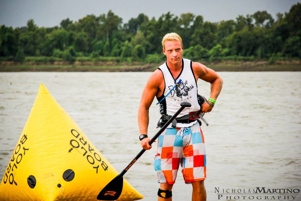 One of the top ranking SUP racers in Florida, Garrett Fletcher