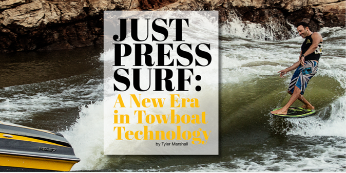 Just Press Surf:  A New Era in Towboat Technology featured in Issue # 10.  Above:  Sean Cummings behind the new Centurion Ri237