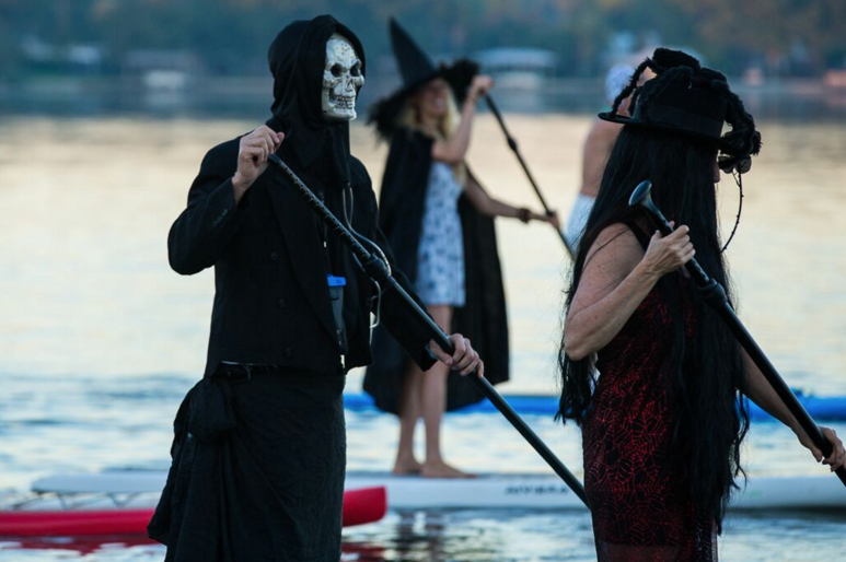 Halloween Ghost Paddleboarding