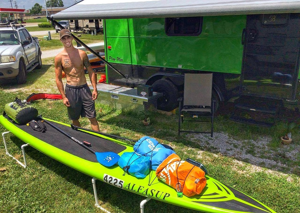 Ryan Fullerton geared up for the MR340 340 Mile paddle race
