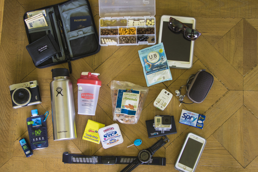 The Essentials-  Watermans Sunscreen, Onit Pro, GoPro, Fin Key, Passport and More