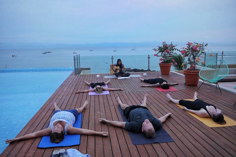 Rooftop yoga to live music overlooking the Bay of Banderas