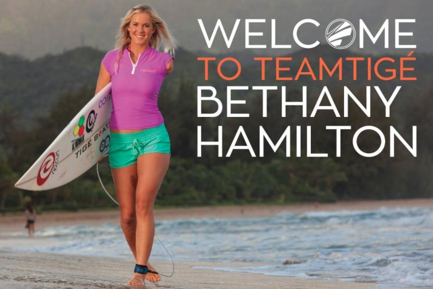 Tige Boats Signs Bethany Hamilton