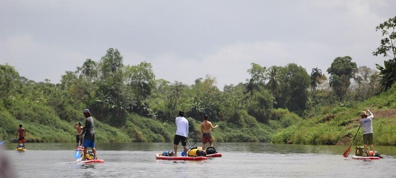 SUP Nicaragua paddlers on Rio Grande De Matagalpa.JPG