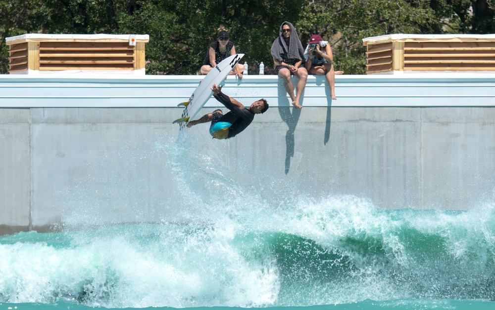 "BSR Surf Park aka ""The Waco Wave"" aka BSR Surf Resort aka The Best Surf Park Wave Yet?!  Surfer:  Seth Moniz, Photo courtesy of  Rob Henson Surf Shots"