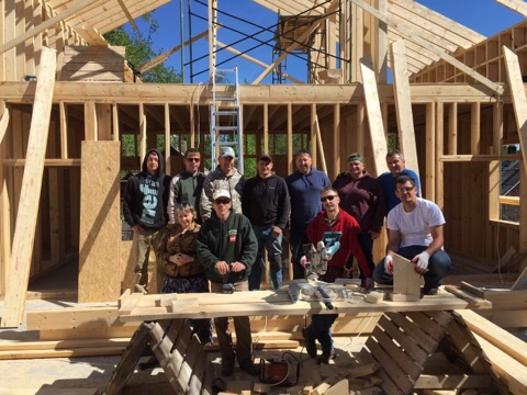 Construction team - volunteers from USA, Russia, Belarus, and locals Christians.