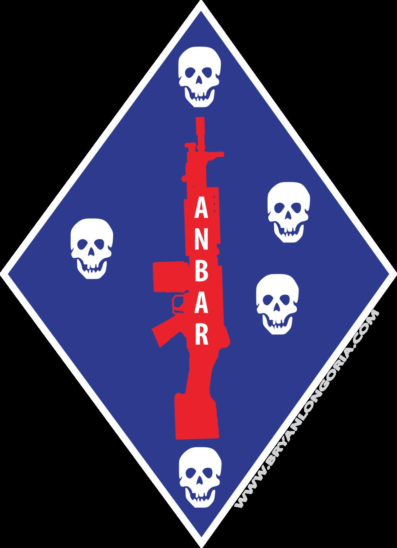 1st Marine Division Unit Logo Al Anbar