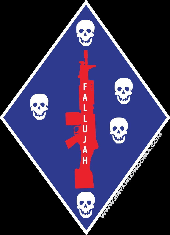 1st Marine Division Unit Logo Fallujah