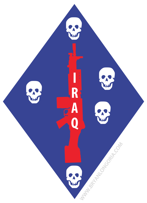 1st Marine Division Unit Logo Iraq