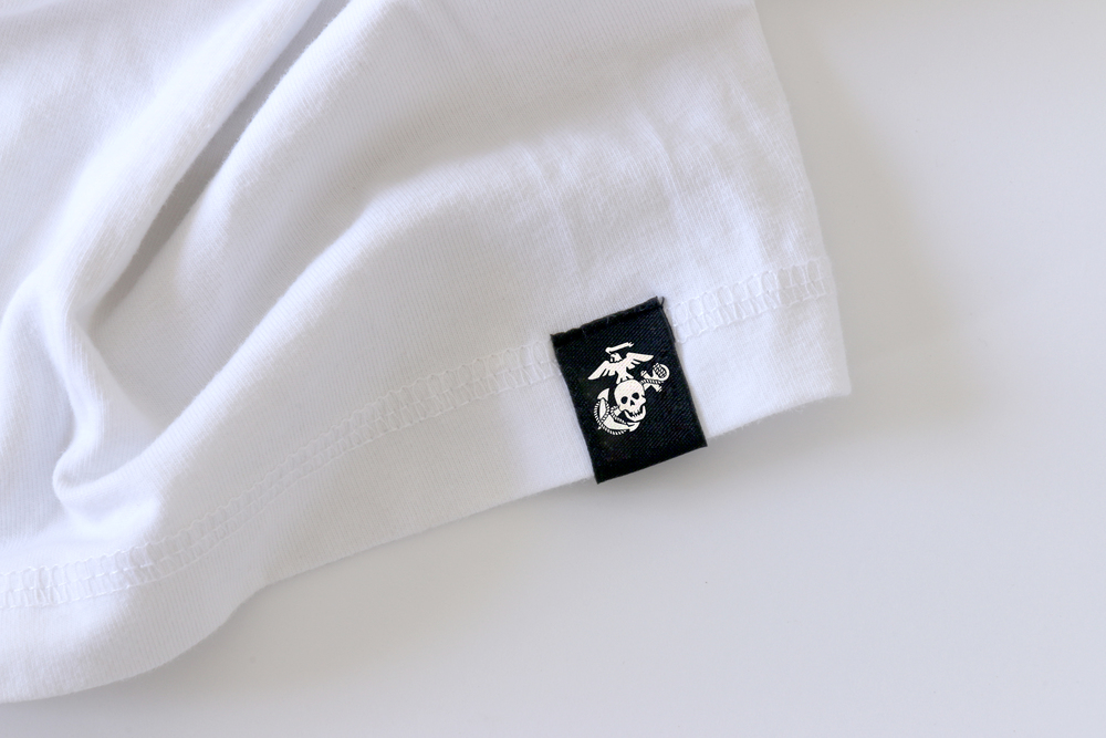 USMC Eagle Skull and Anchor Tag on Marine Shirt