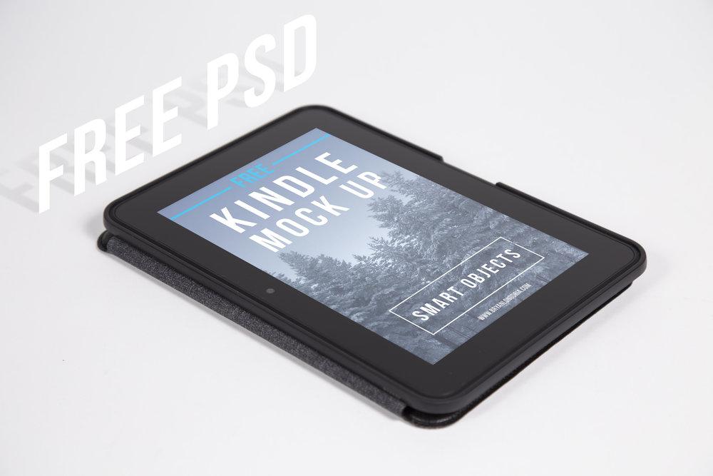 Free Kindle HD PSD Mockup for E-Books
