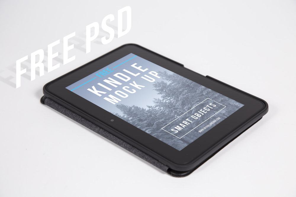 Free Kindle E-Reader PSD Mockup
