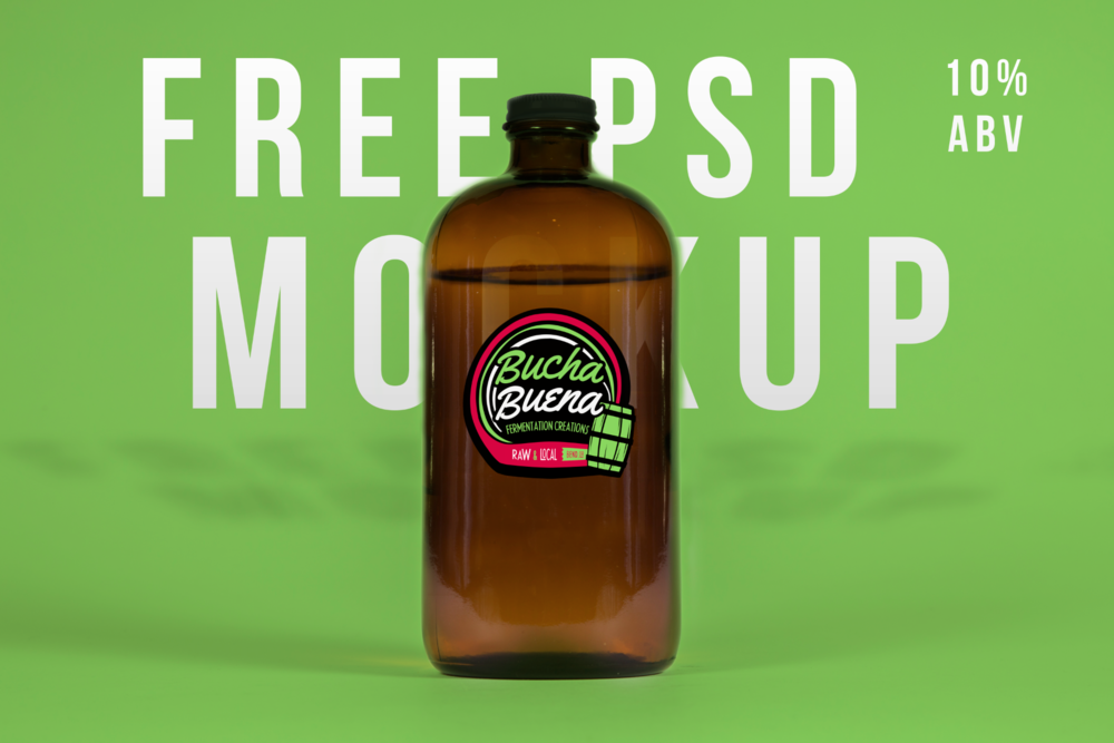 Free PSD Download of Glass Growler Mockup