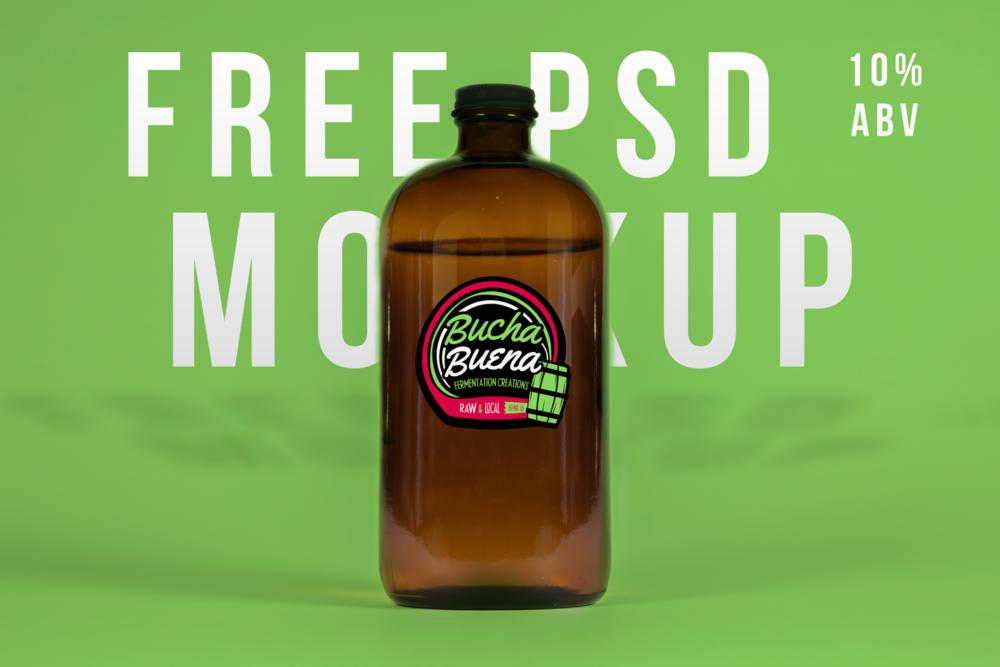 Free Growler PSD Mockup