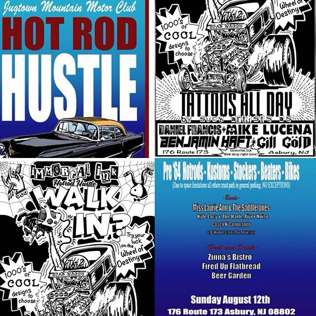 Hey guys! Go see our friend @immortalinknj at this years @jugtown_mountain_motor_club  hot rod hustle this weekend!!! They are doing walkins ! Tell them the #cheetahpack sent ya!