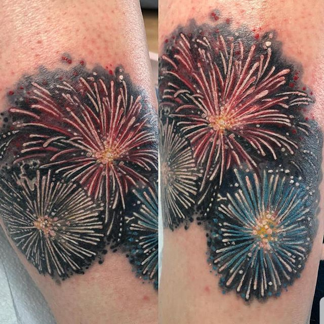 #boomboompow #merica some #fireworks #tattooed by @quinners666  #tattoolife #tattoostyle #tattooedwomen #eternalink #redemptiontattoocare #cheetahgram