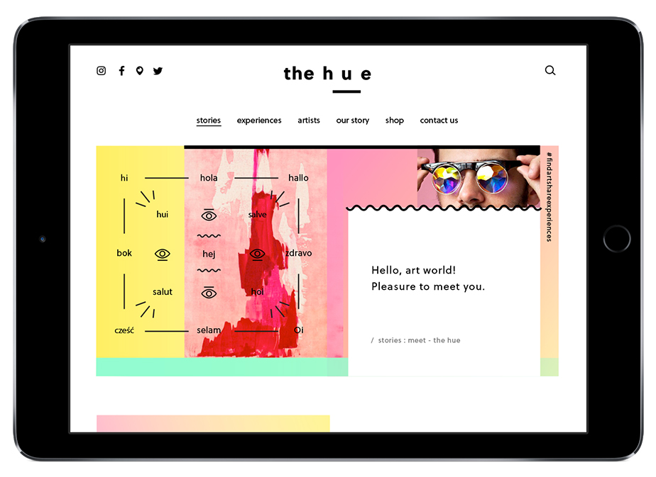 'The Hue' website