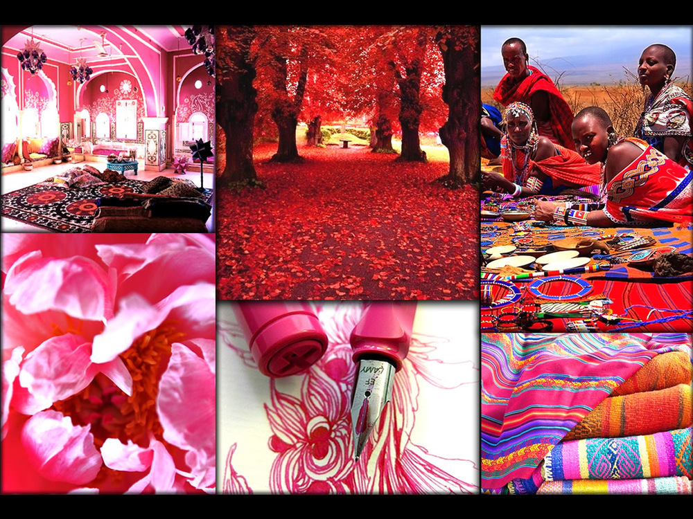 Reds and Pinks that inspire.