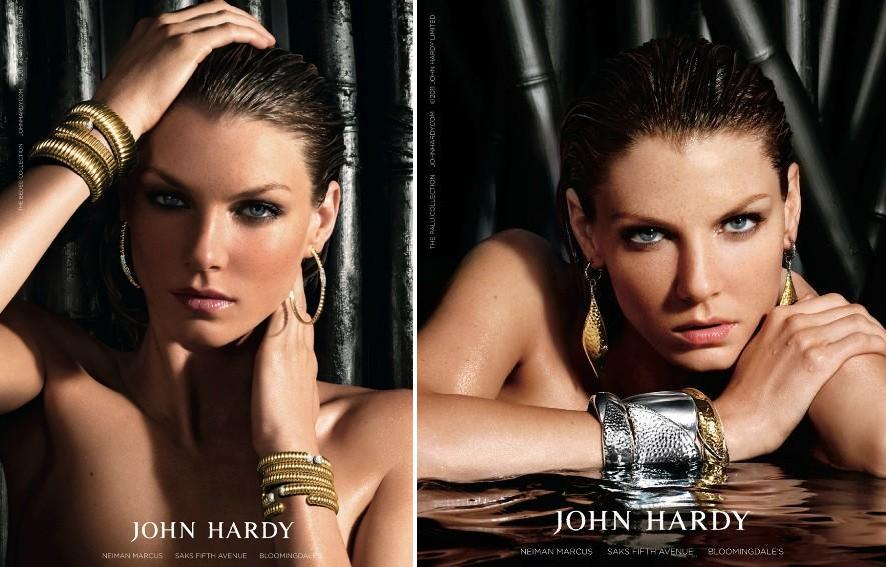 John Hardy Collection Fall Winter 2011 (Angela Lindvall spokesperson). Photography Kurt Iswarienko.