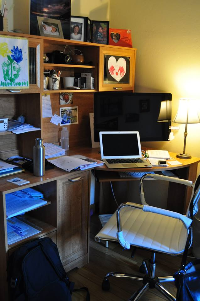 Stefania's work space at home
