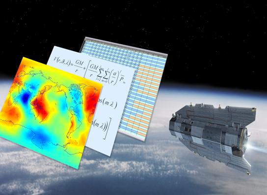Imagen 2. GOCE se dedica a medir el campo gravitatorio de la Tierra y la modelación del geoide; mejorará nuestro conocimiento de la circulación oceanica, el cambio del nivel del mar; entre otros datos.