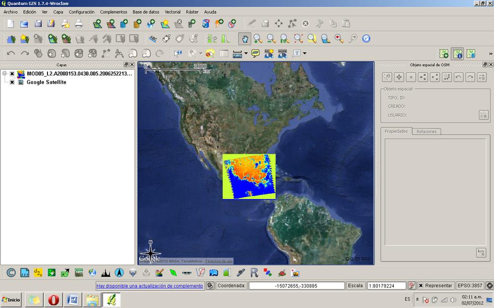Figura 17. Visualización de la imagen en formato GEOTIF.