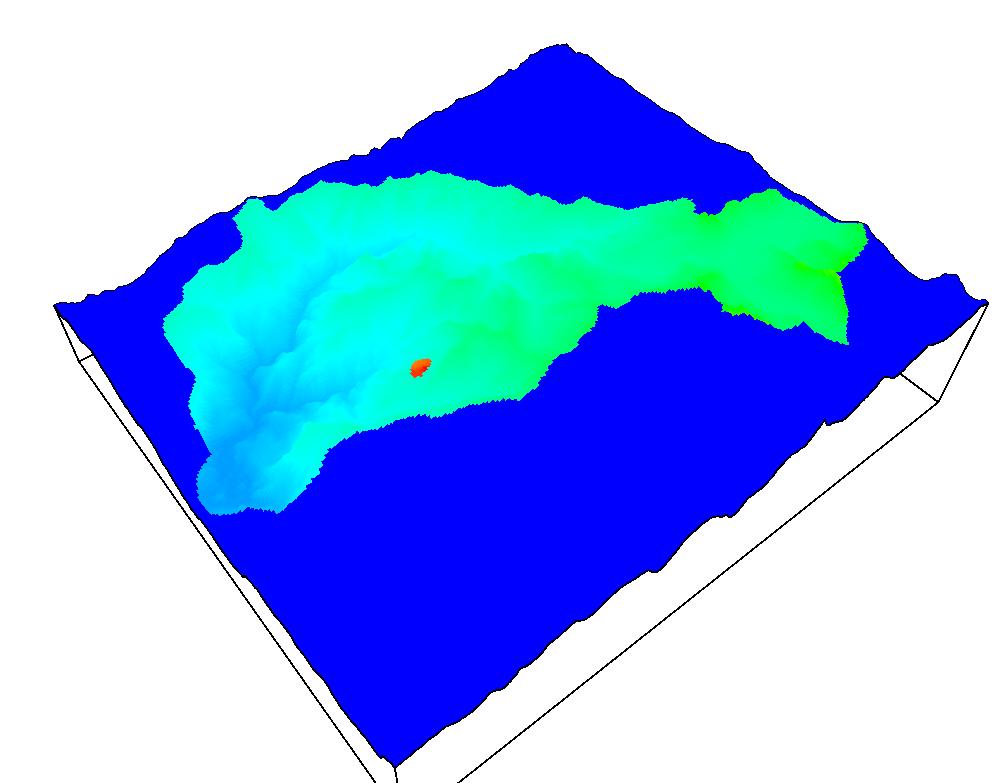 Figura 3. Construcción de un modelo regional de aguas subterráneas y la ubicación de un botadero.