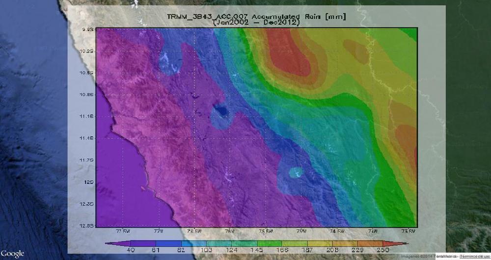 Distribución de precipitación promedio mensual en el periodo 2002-2012.