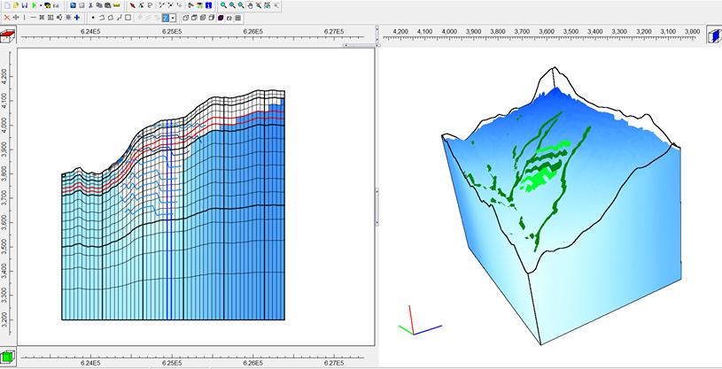 Modelamiento de labores y proyección isométrica del régimen de aguas subterráneas post-mina.