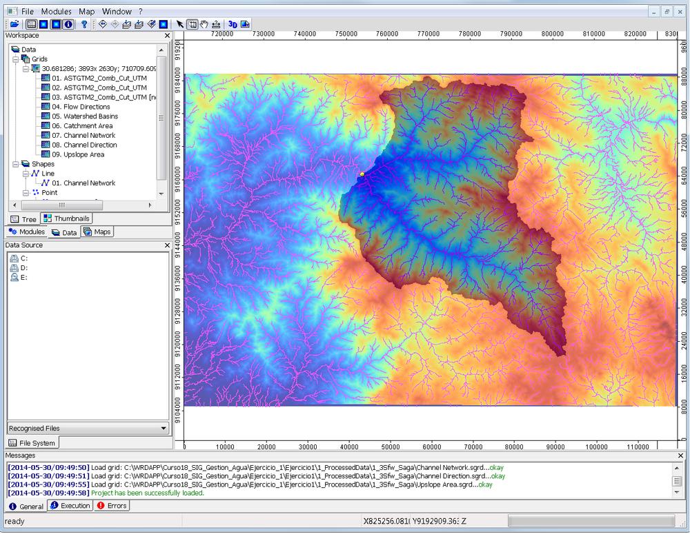Análisis espacial de una cuenca andina en SAGA GIS