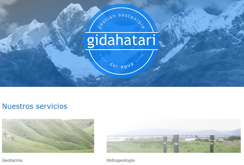 Página principal de gidahatari.com construida en Squarespace.