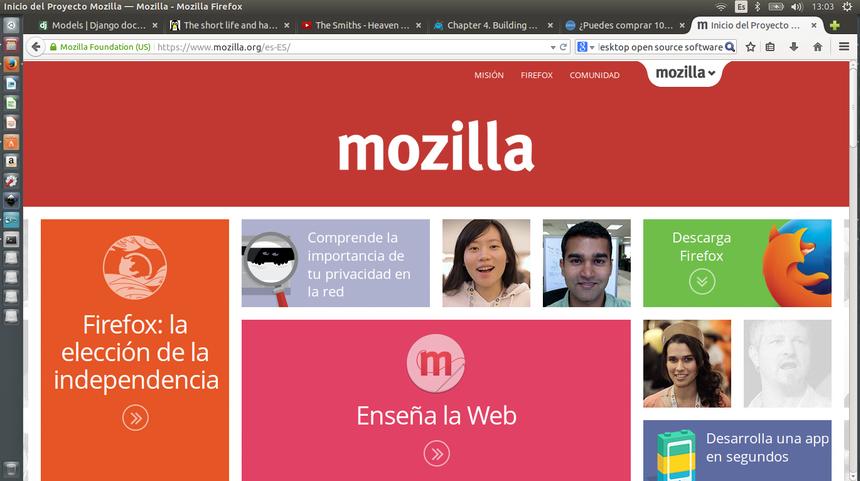 Entorno de Mozilla Firefox en Ubuntu