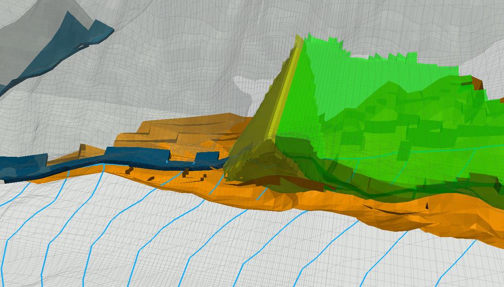 Modelamiento de filtraciones de una relavera con MODFLOW