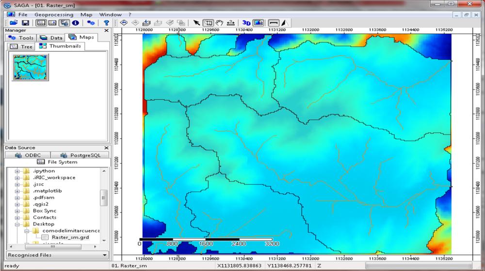Cómo delimitar cuencas y ríos en solo 3 pasos con SAGA GIS