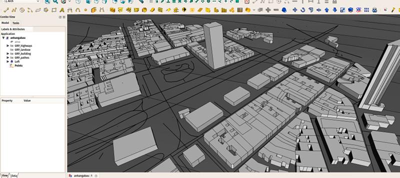 Integración del CAD con información de terreno con FreeCAD. Fuente: yorik.uncreated.net