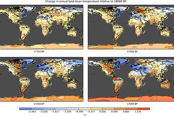 Fuente: Fordham, D, et al. (2017). PaleoView: A tool for generating continuous climate projections spanning the last 21 000 years at regional and global scales. – Ecography.
