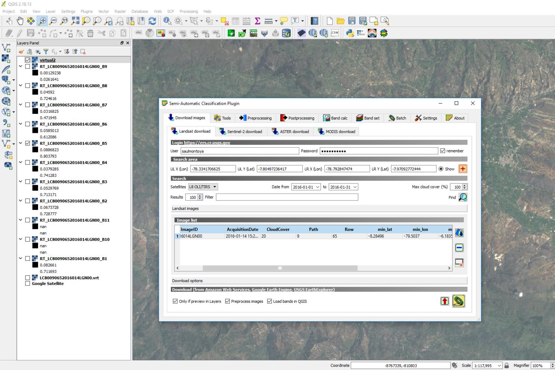 Tutorial de Descarga Directa de Imágenes Landsat en QGIS con