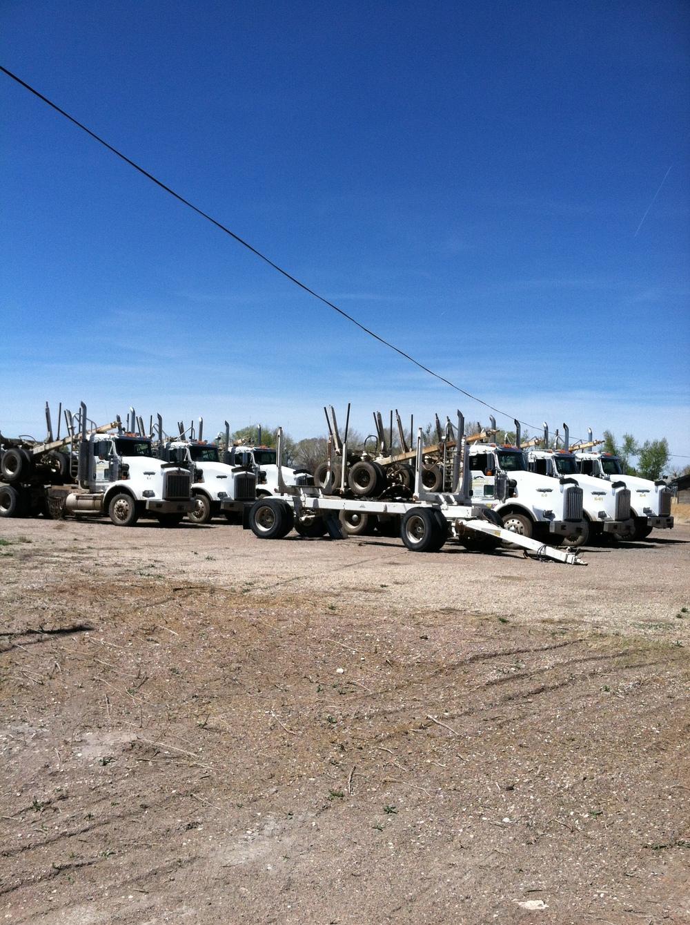 Trucks hauling in Laramie, Wy
