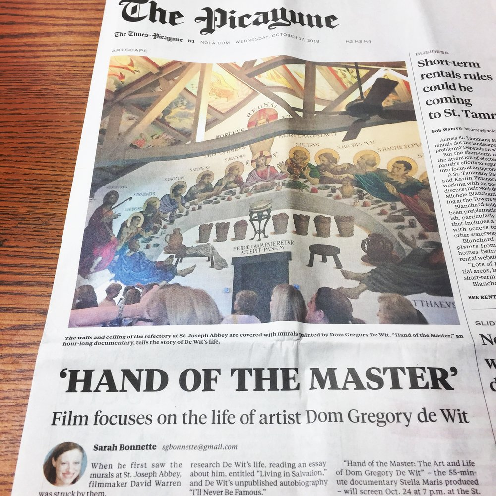 Hand of the Master Dom Gregory Film Front Page News.JPG