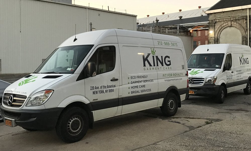 Clean Convenience - How could we be 'Fit for Royalty' if we couldn't make your experience with us more convenient? Our bio-diesel vans, along with our advanced scheduling system ensures your garments are picked-up & delivered when works for you, without wasting unconscious time on the road. You can sign up for our Delivery Service here.