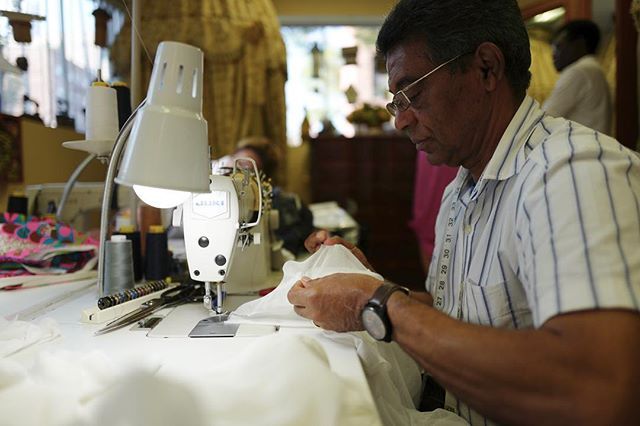 Ramon is the only tailor a 'Very special swimsuit brand' will trust with re-lining their men's trunks. His work with a needle and thread could only be described as surgical.