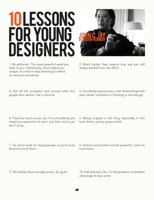 cabbagerose :      10 lessons for young designers/john c. jay       via:  laurabielecki