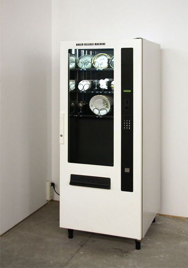 losed :     Anger Release Machine by  Yarisal & Kublitz , 2008     Insert a coin. Your selected piece of china will fall to the bottom of the vending machine. It will shatter. You will feel better.