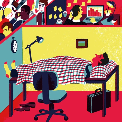 good :        Stop Working So Much (and how that helps you work better)     -   Casey Caplowe   posted in   Work  ,   Productivity   and   Creativity    My favorite article in a while: Tony Schwartz explains in the NYT how taking breaks, sleeping, and other kinds of not working make us so much better at our work. Ninety-minute increments is the way to go apparently…     Continue to link       Illustration by  Golden Cosmos