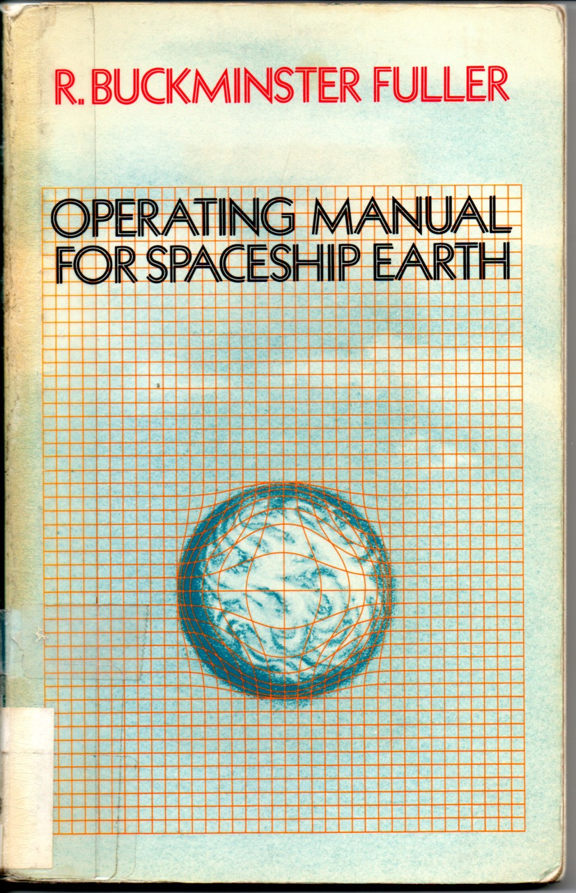 miss-mary-quite-contrary :      Operating manual for spaceship earth  by   Buckminster Fuller       Operating manual for spaceship earth   is a short book by   R. Buckminster Fuller  , first published in 1968, following an address with a similar title given to the 50th annual convention of the  American Planners Association  in the  Shoreham Hotel , Washington D.C., on 16 October 1967   The book relates Earth to a spaceship flying through space. The spaceship has a finite amount of resources and cannot be resupplied.   Fuller would later partner with the   Walt Disney Company   to consult on an attraction at   EPCOT Center  called Spaceship Earth , which opened with the park in 1982.    Copy of the manual at futurehi.net