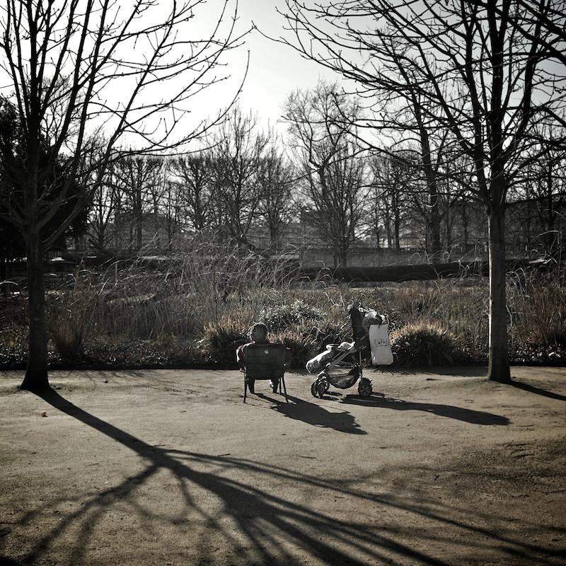 adult & stroller