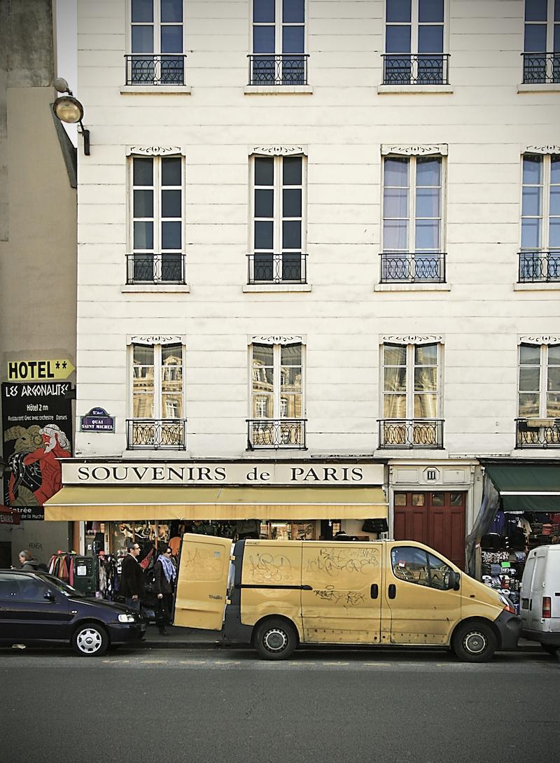 yellow van & tent