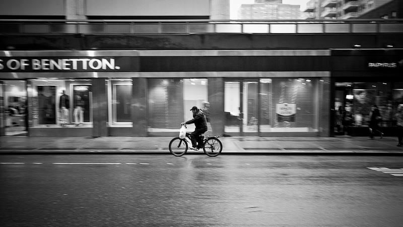 biker with bag
