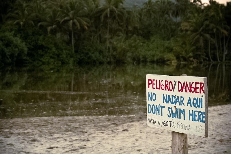 no nadar aqui
