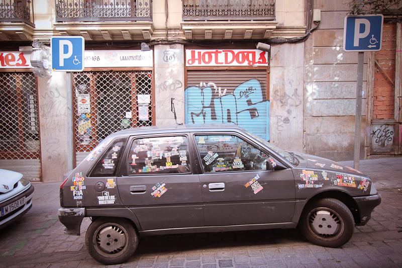 stickered car